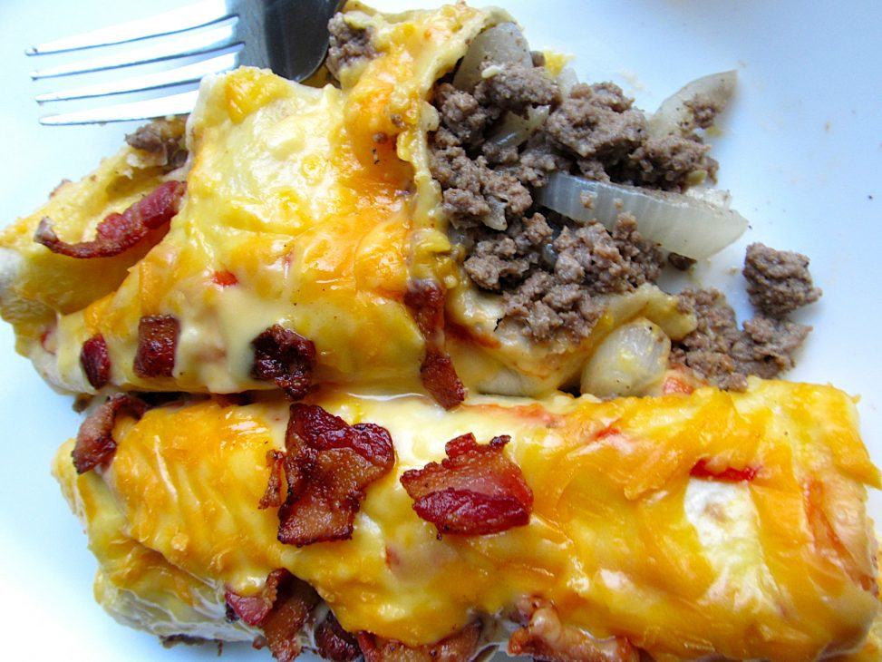 Cheeseburger Enchiladas