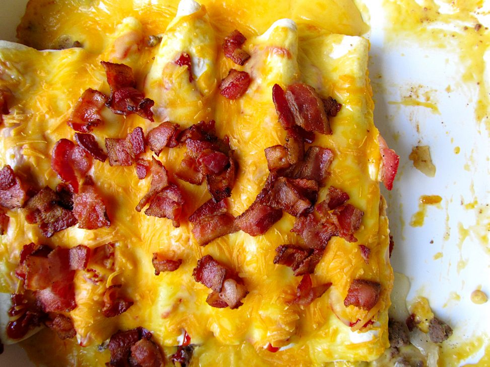 Bacon Cheeseburger Enchiladas