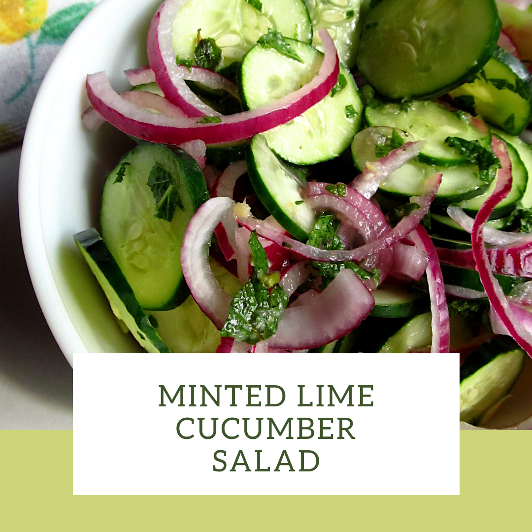 Minted Lime Cucumber Salad