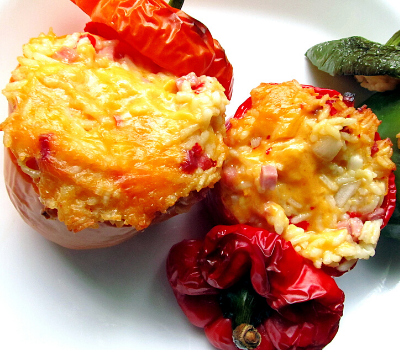 ham and cheese stuffed peppers