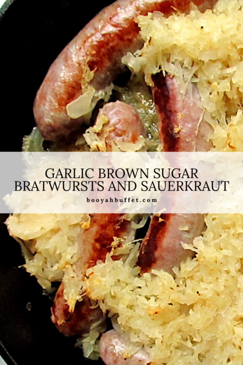 Garlic Brown Sugar Bratwurst and Sauerkraut Pinterest