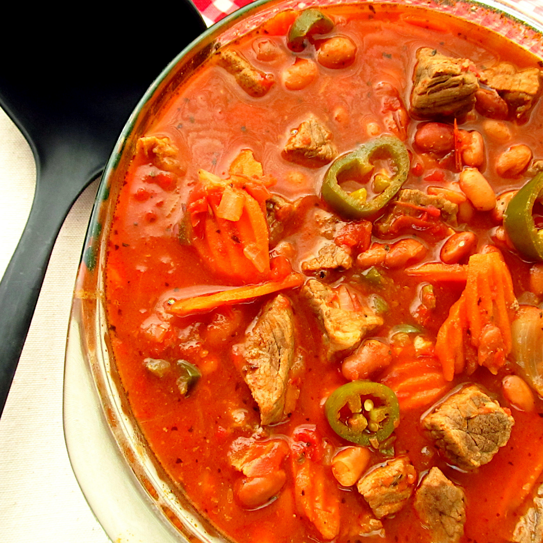 Spicy Beef and Jalapeno Soup
