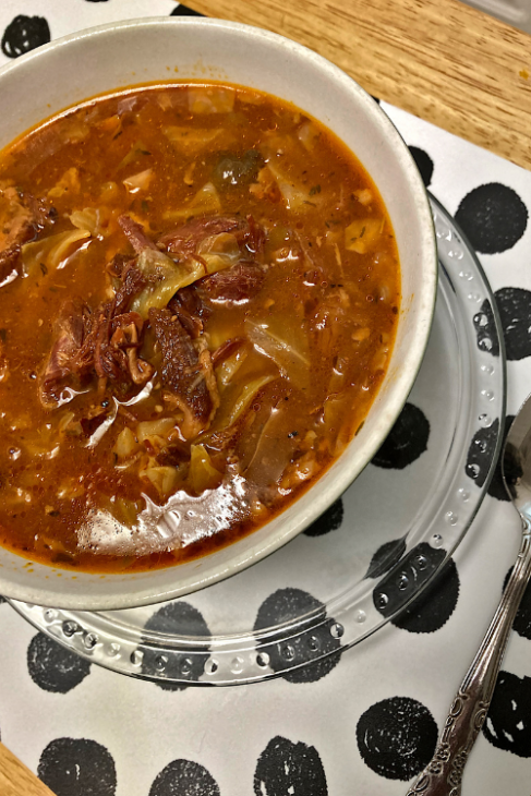 cabbage and hambone soup instant pot