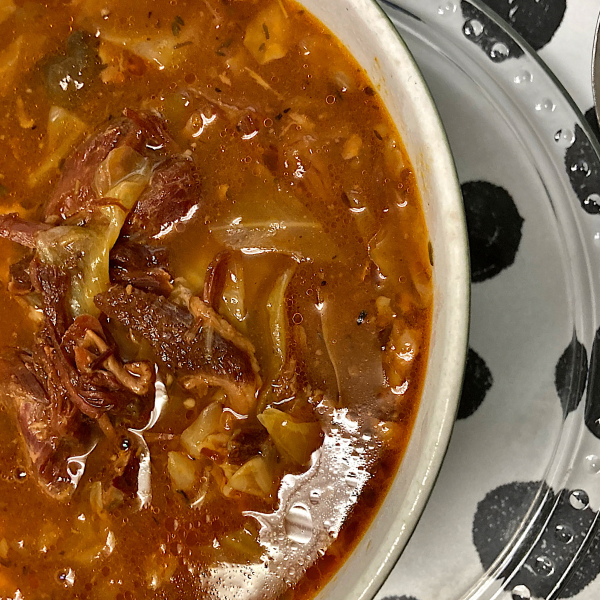hambone and cabbage soup